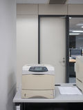 Laser printer in office. Old laser printer in office Stock Photos