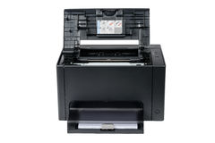Laser printer with opened front cover Stock Photography