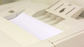 Laser printer print blank sheet Stock Photography