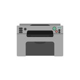 Laser printer. Vector laser printer. Digital print machine design. Color copy and printing equipment. Office hardware Stock Photo