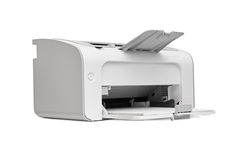 Laser printer. On a white background royalty free stock image