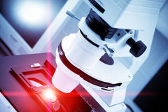 Laser processing. Of semiconductor nano components Royalty Free Stock Images