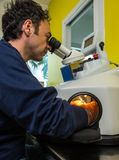Laser processing for dental prosthesis Royalty Free Stock Photo