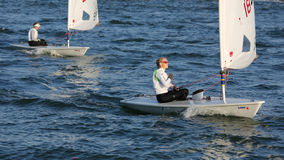Laser Radial World Sailing Championships held in Rizhao City, Shandong Province, China October 1, 2013 Stock Image