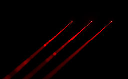 Laser. Red laser beams on black background Stock Photos