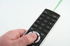 Laser remote. Green laser remote royalty free stock photography