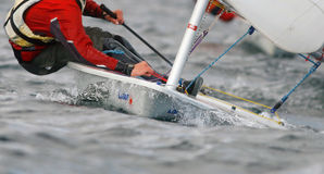 Laser sailing detail Stock Photography