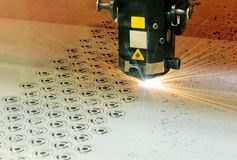 Laser-Scherblock Lizenzfreie Stockfotografie