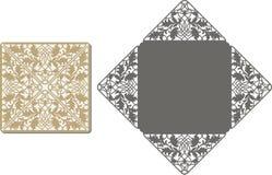 Laser schnitt Muster für Einladungskarte für die Heirat Lizenzfreies Stockbild