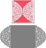 Laser schnitt Umschlagschablone für Einladungshochzeitskarte lizenzfreie abbildung