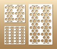 Laser-Schnittplatte Lizenzfreies Stockbild