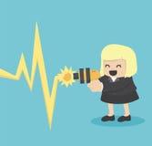 Laser shooting vector illustration