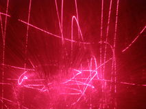 Laser show. Photo of real laser show in dark Royalty Free Stock Image