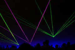 laser-show Arkivbild