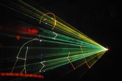 Laser show. Paints man's silhouette Stock Photo