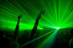 Laser show Royalty Free Stock Photography