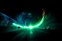 Laser-show 1 arkivfoton