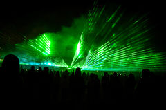 Laser-show 2 Royaltyfri Fotografi