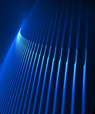 Laser show in Blue. Conceptual technical industrial mathematical galactical illustration Royalty Free Stock Photography