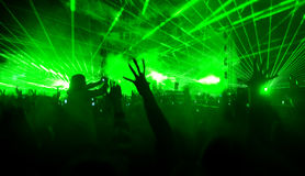 Laser show at the concert Royalty Free Stock Image