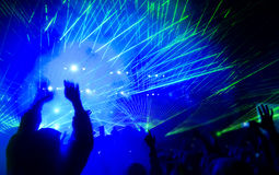 Laser show at the concert Royalty Free Stock Photo