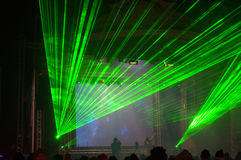 Laser show at concert Royalty Free Stock Photography