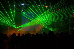 Laser show at concert Royalty Free Stock Images
