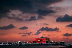 Laser show at Emirates Palace, Abu Dhabi, United Arab Emirates Royalty Free Stock Photography