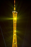 Laser show of GuangZhou Tower Stock Image