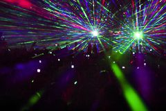 Laser Show In Club Stock Image