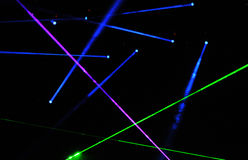 Laser show at a live concert Stock Photo