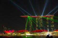 Laser show at Marina Bay in Singapore Stock Image