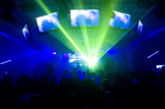 Laser show and music royalty free stock photo