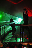 Laser show at a nightclub royalty free stock photo