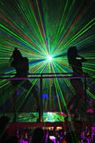 Laser show at a nightclub. A laser show at a nightclub Royalty Free Stock Photography