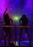 Laser show at a nightclub. A laser show at a nightclub Stock Photos
