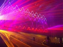 Laser-show på festivalen i Lodz arkivbild