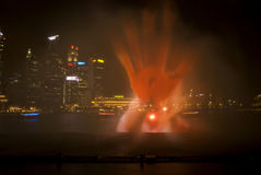 Laser show, Singapore Stock Photography
