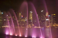 Laser show, Singapore Stock Photos