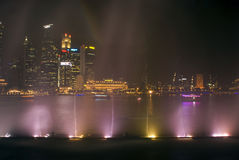 Laser show, Singapore Royalty Free Stock Images