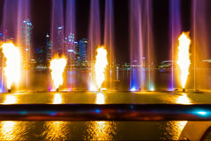 Laser show in Singapore Stock Photography