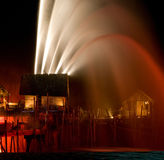 Laser show, Songs of the sea. Royalty Free Stock Photography
