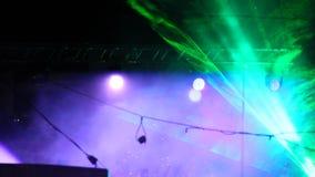 Laser-show under den öppna himlen arkivfilmer