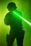 Laser-sikt royaltyfri fotografi