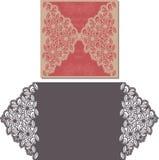 Laser-snittmodell för inbjudankortet för att gifta sig Royaltyfri Fotografi