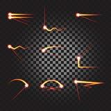Laser-Spurnunterstreichungssatz Stockbilder