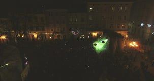 Laser stellen zur Feier des neuen Jahres dar stock video