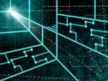 Laser-Stromkreis-Hintergrund bedeutet Lichtstrahlen oder vektor abbildung