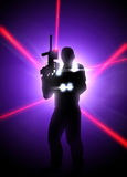 Laser tag background Royalty Free Stock Images