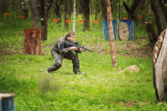 Laser tag game. Royalty Free Stock Photography